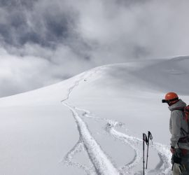 beautiful backcountry skiing lines