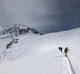 golden bc ski touring guided group