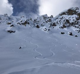 Splitboarding in Backcountry