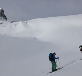backcountry skiers on wapta traverse