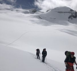 wapta ice fields on the backcountry traverse