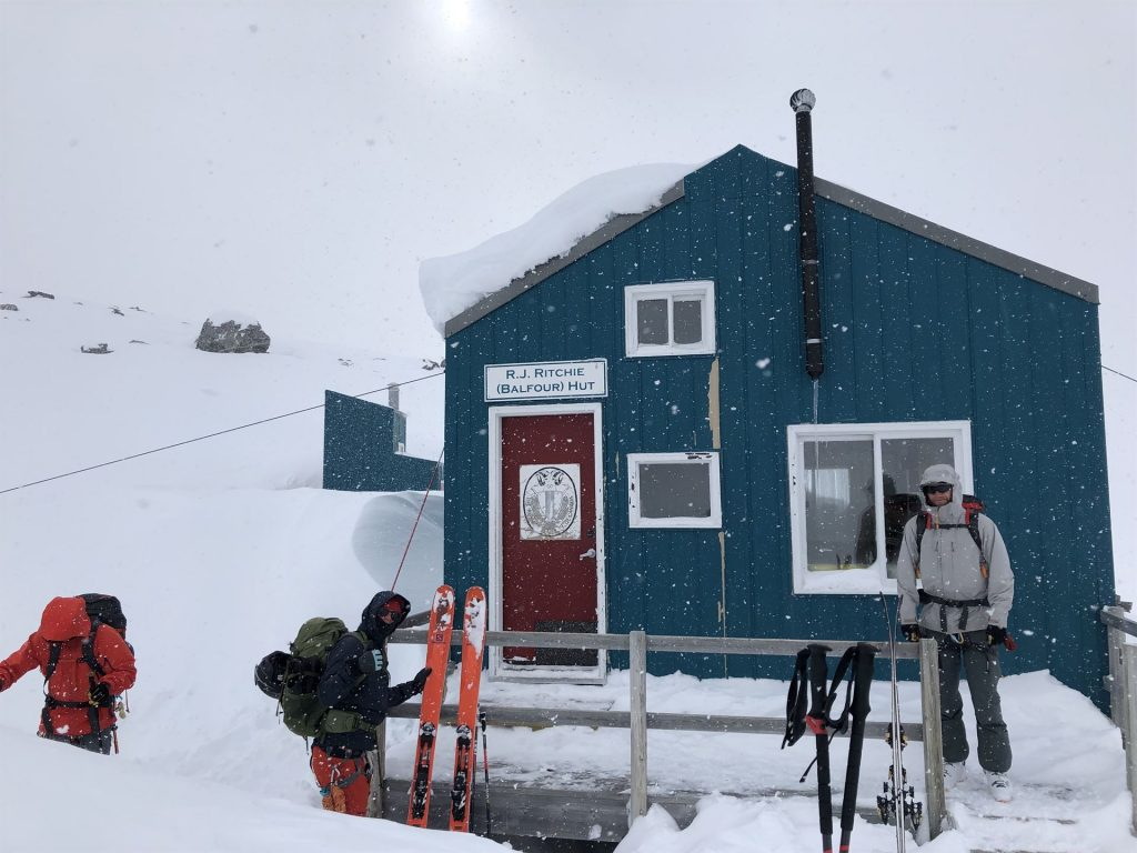 wapta traverse ski hut