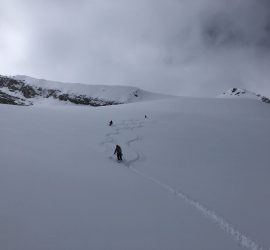 skiing backcountry powder lines