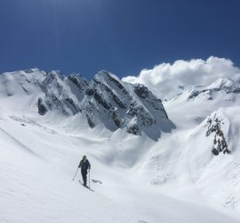 scenery of ski touring in backcountry