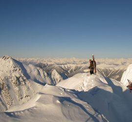ski touring scenery