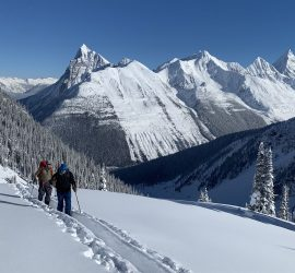 Scenery in ski Touring