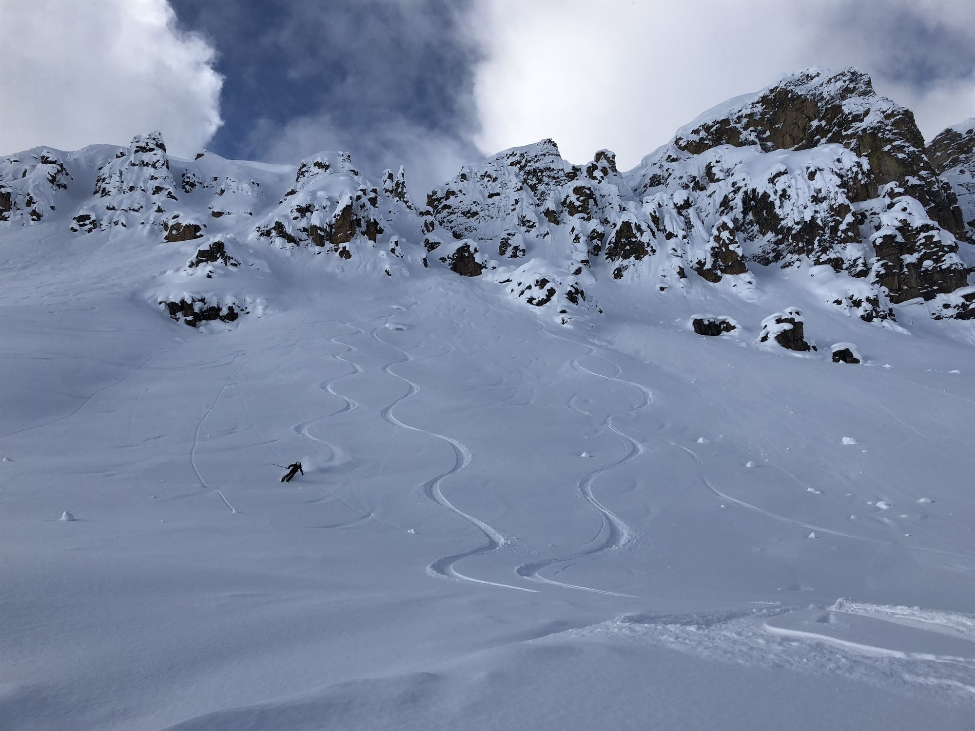guided backcountry skiing in golden bc