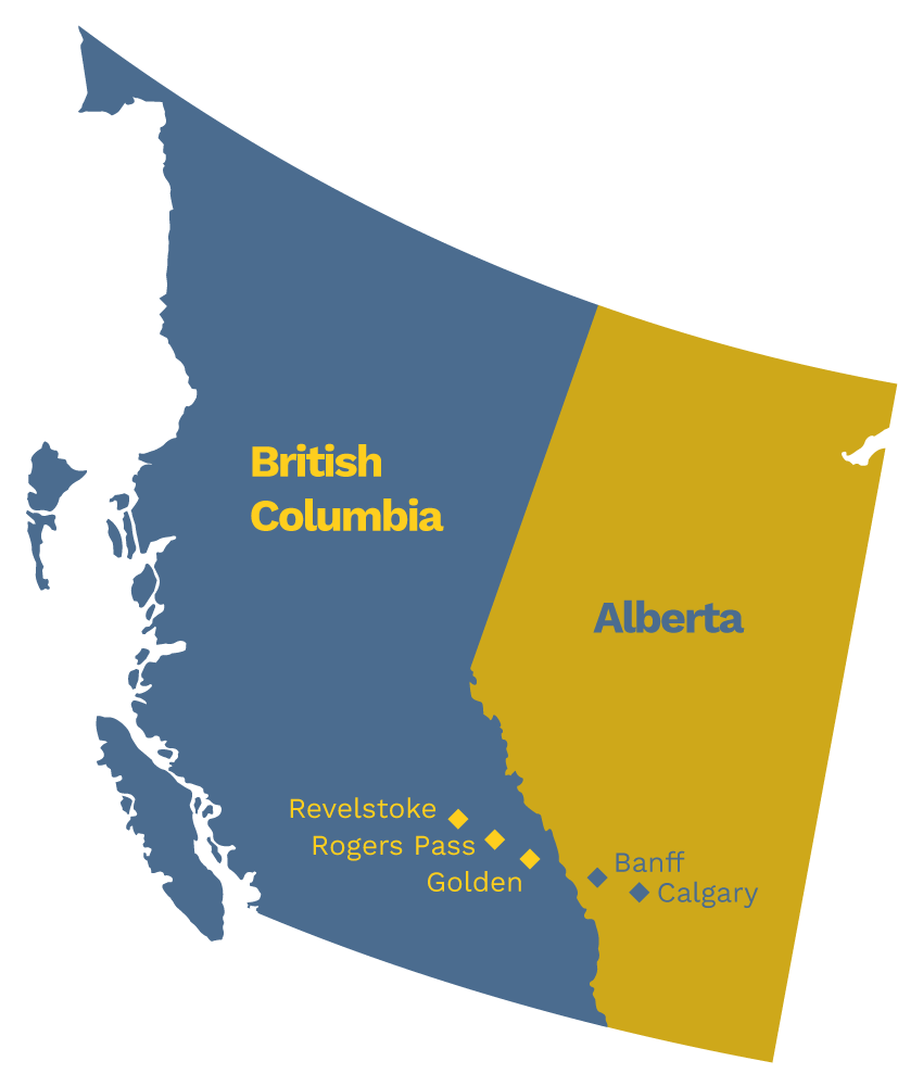 Alberta BC Location Map