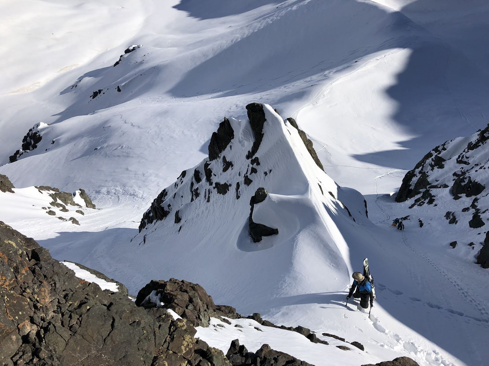 backcountry couloir mountain skiing