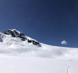ski touring in big vast alpine terrain