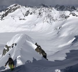 summit mountaineering skier