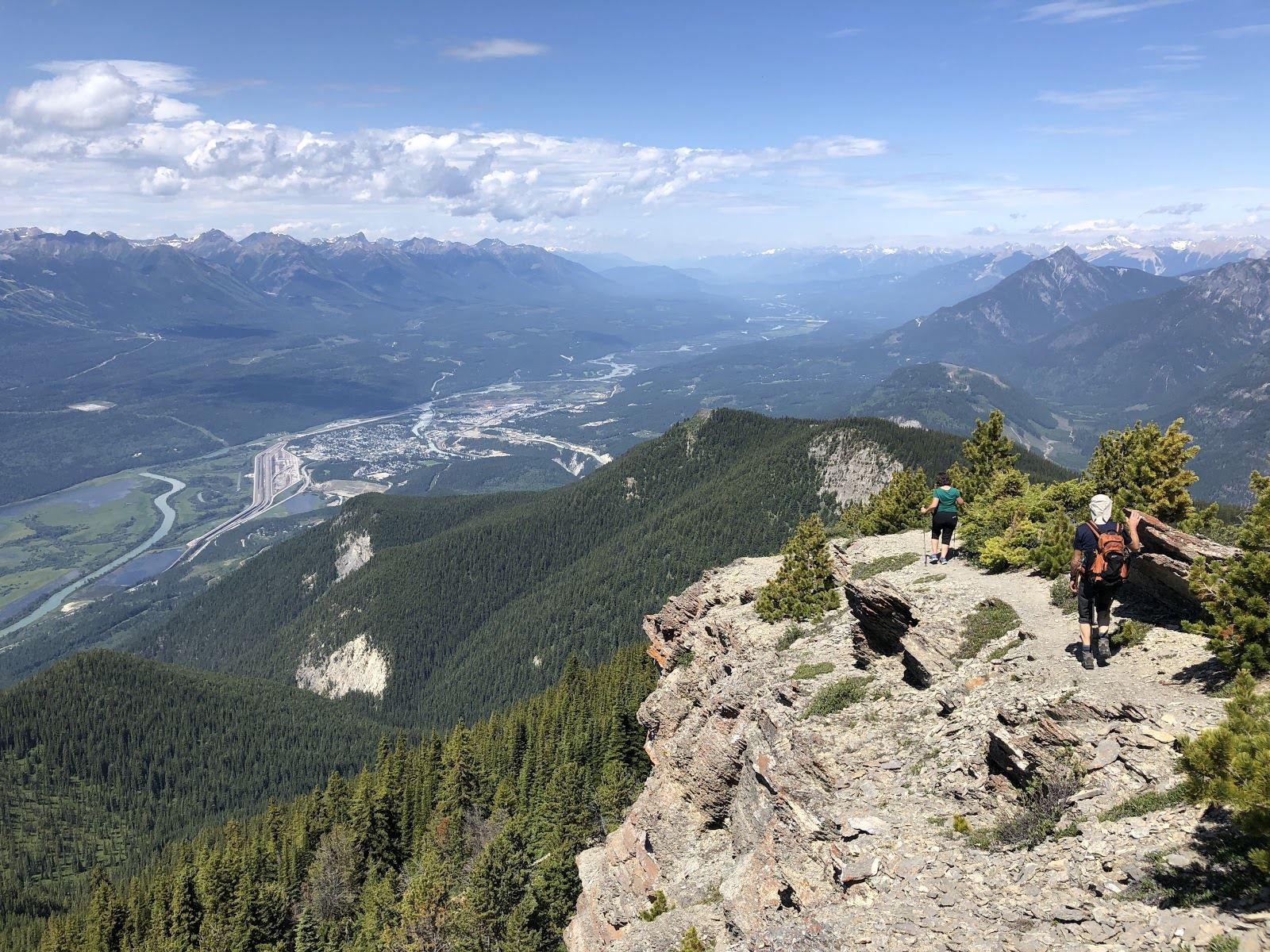 hiking up mount 7 in golden bc